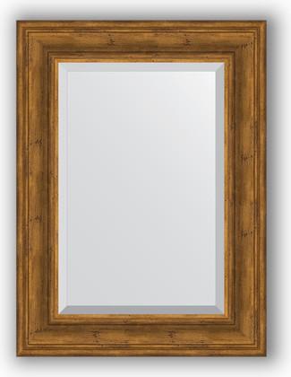 Зеркало с фацетом в багетной раме 59x79см травленая бронза 99мм Evoform BY 3394