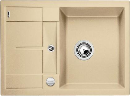 Кухонная мойка оборачиваемая с крылом, с клапаном-автоматом, гранит, шампань Blanco METRA 45 S Compact 519578