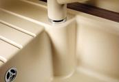 Кухонная мойка оборачиваемая с крылом, гранит, серый беж Blanco ZIA 40 S 517411
