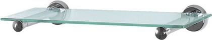 Полка для ванной стеклянная 60см с хромированными держателями Spirella SYDNEY 1003174
