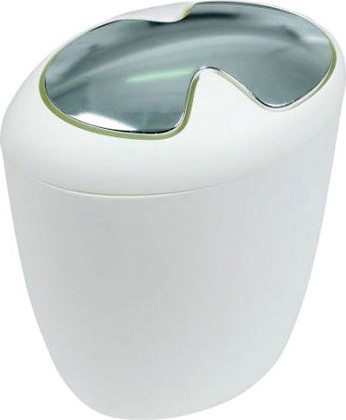 Ведро для мусора 7л белое Spirella ETNA 1010541
