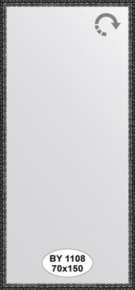 Зеркало 70x150см в багетной раме чернёное серебро Evoform BY 1108