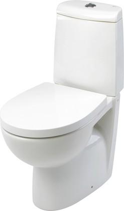 Сиденье для унитаза с крышкой и системой плавного опускания, белое Roca VICTORIA NORD ZRU9000024