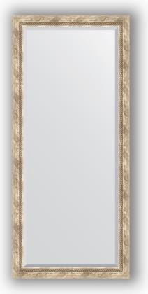 Зеркало с фацетом в багетной раме 73x163см прованс с плетением 70мм Evoform BY 3589