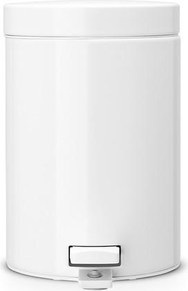 Мусорный бак с педалью 3л белый Brabantia 109348
