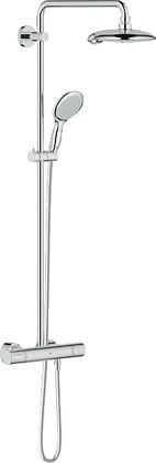 Душевая система с термостатом для настенного монтажа, хром Grohe POWER&SOUL System 190 27909000