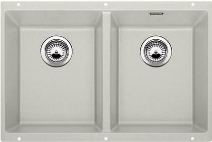 Кухонная мойка без крыла, с клапаном-автоматом, гранит, жемчужный Blanco SUBLINE 350/350-U 520650