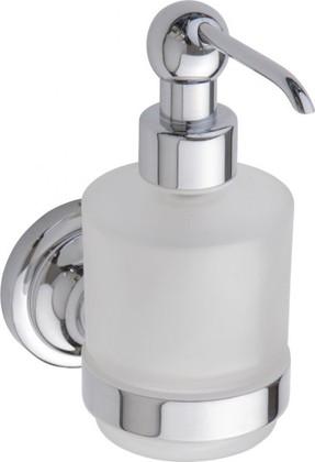 Дозатор жидкого мыла настенный MINI, хром-матовое стекло, Bemeta 144309102