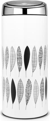 Мусорный бак 30л с рисунком чёрно-белый Brabantia TOUCH BIN 483981