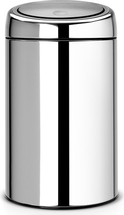 Ведро для мусора 20л сталь полированная Brabantia TOUCH BIN 415920