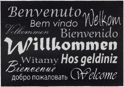 Коврик придверный 50x75см для помещения чёрный WILLCOMMEN, полиамид Golze HOMELIKE 1676-40-26