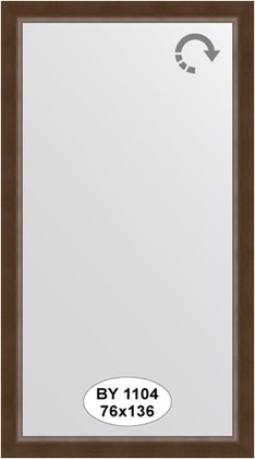 Зеркало 76x136см в багетной раме орех Evoform BY 1104