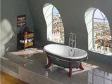 Овальная чугунная ванна 170x85см, Antislip Roca NEWCAST GREY 233650000