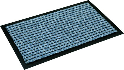 Коврик придверный 60x90см для помещения синий, полиамид Golze KARAT 620-55-20
