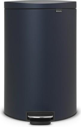 Мусорный бак с педалью 40л иссиня-чёрного цвета Brabantia FlatBack+ 103889