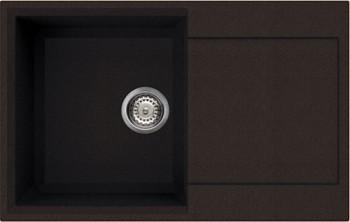 Кухонная мойка оборачиваемая с крылом, гранит, тёмный шоколад Omoikiri Sakaime 79-DC 4993280