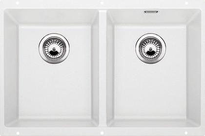 Кухонная мойка без крыла, с клапаном-автоматом, гранит, белый Blanco SUBLINE 350/350-U 516287