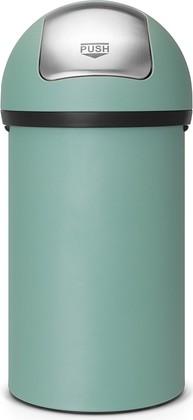 Мусорный бак с нажимной крышкой 60л зелёная мята Brabantia PUSH BIN 402661