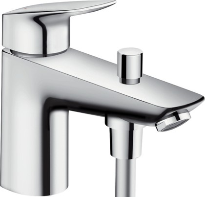 Смеситель однорычажный на борт ванны на 1 отверстие, хром Hansgrohe Logis 71312000