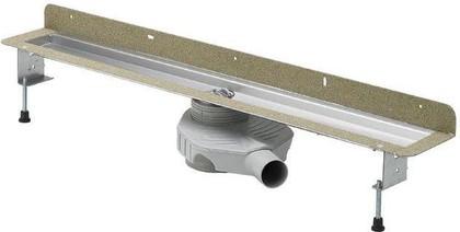 Душевой лоток 1000мм для пристенного монтажа из нержавеющей стали Viega Advantix Basic 658977
