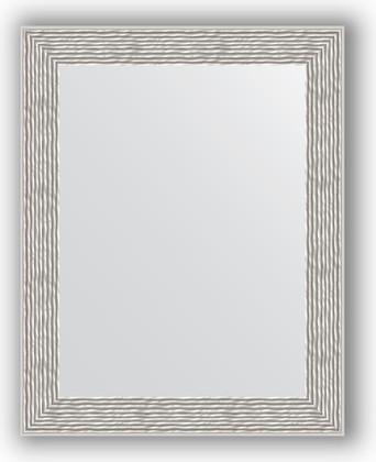 Зеркало в багетной раме 38x48см волна алюминий 46мм Evoform BY 3006