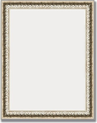 Зеркало 38x48см в багетной раме мельхиор Evoform BY 1342
