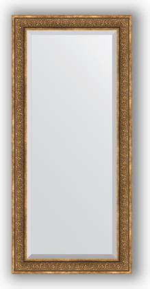 Зеркало с фацетом в багетной раме 79x169см вензель бронзовый 101мм Evoform BY 3604