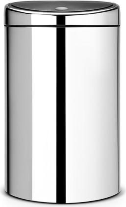 Ведро для мусора с плоской задней стороной 40л сталь полированная Brabantia TOUCH BIN 348587