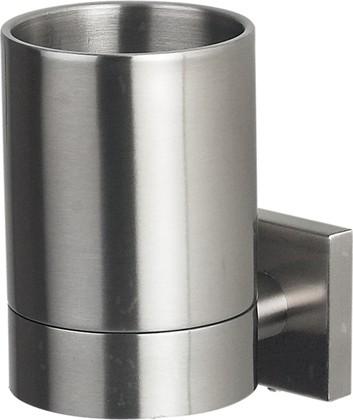 Стаканчик для зубных щёток стальной матовый с держателем Spirella NYO 1015576