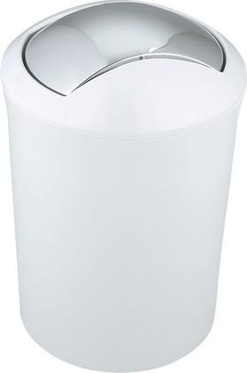 Ведро для мусора 5л белое Spirella MALIBU 1001769