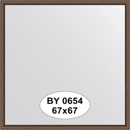 Зеркало 67x67см в багетной раме орех Evoform BY 0654