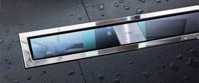 Дизайн-решетка из прозрачного чёрного стекла и рамы из нержавеющей стали, 1000мм Viega Advantix Visign ER9 617103