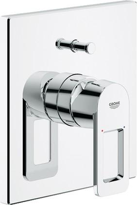 Смеситель встраиваемый однорычажный для ванны без встраиваемого механизма и без излива, хром Grohe QUADRA 19456000
