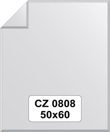 Зеркало для ванной 50x60см с фацетом и декором FBS CZ 0808