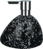 Ёмкость для жидкого мыла чёрная Spirella ETNA GLITTER 1016528
