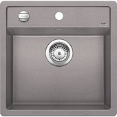 Кухонная мойка без крыла, с клапаном-автоматом, гранит, алюметаллик Blanco DALAGO 5-F 518531