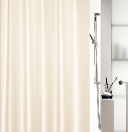 Штора для ванны 180x200см текстильная бежевая Spirella SHINE 1015640