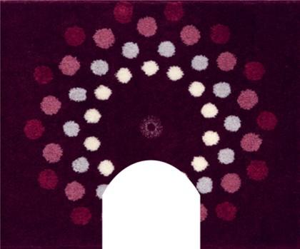 Коврик с вырезом под туалет 50x60см фиолетовый с кристаллами Сваровски Grund CRYSTAL BLOSSOM WC 3344.06.022