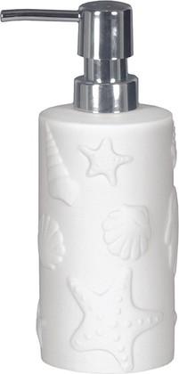 Ёмкость для жидкого мыла фарфоровая белая Kleine Wolke STARFISH 5090100854