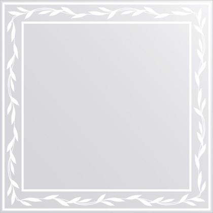 Зеркало для ванной с орнаментом 60x60см FBS CZ 0722