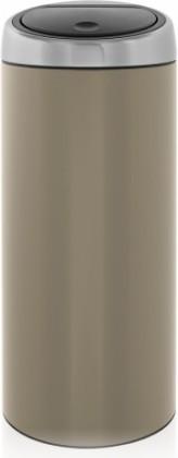 Ведро для мусора 30л серо-коричневое Brabantia TOUCH BIN 425004
