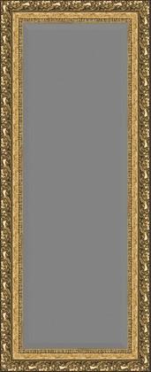 Зеркало 55x135см с фацетом 30мм в багетной раме виньетка бронзовая Evoform BY 1260