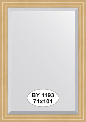 Зеркало 71x101см с фацетом 30мм в багетной раме сосна Evoform BY 1193