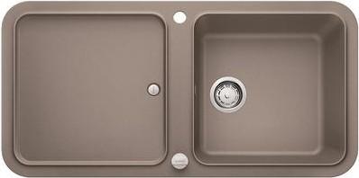 Кухонная мойка оборачиваемая с крылом, с клапаном-автоматом, гранит, серый беж Blanco YOVA XL 6 S 519591