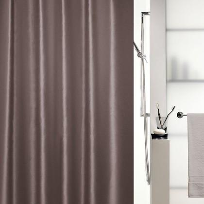 Штора для ванной 180x200см текстиль коричневая Spirella SHINE 1015644