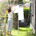 Сушилка для белья уличная для установки в грунт 50м с чехлом Brabantia Topspinner 310829