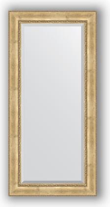 Зеркало с фацетом в багетной раме 82x172см состаренное серебро с орнаментом 120мм Evoform BY 3610