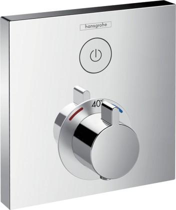 Наружная часть термостата с запорным клапаном, хром Hansgrohe ShowerSelect 15762000