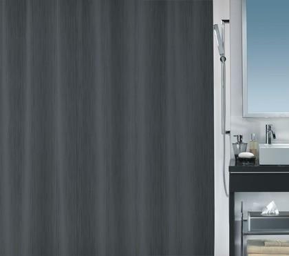 Штора для ванной комнаты 180x200см текстильная, серая Spirella UNA 1017043