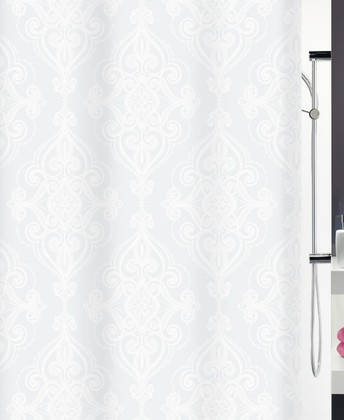 Штора для ванны 180x200см текстильная белая Spirella RIVOLI 1017188